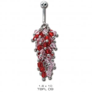 Piercing Tribal TBFL9 red
