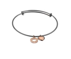 Oceľový náramok Hot Diamonds Emozioni Rose Gold Bangle DC108-128