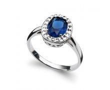Prsteň s krištáľmi Swarovski Oliver Weber Pure Sapphire 63211 a1bd7ec30fc