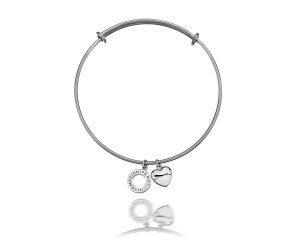 Oceľový náramok Hot Diamonds Emozioni Silver Bangle DC107-127