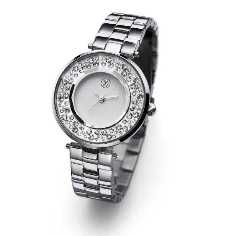 40b01311b Dámske hodinky s krištáľmi Swarovski Oliver Weber Lyon Steel Silver  65046-SIL