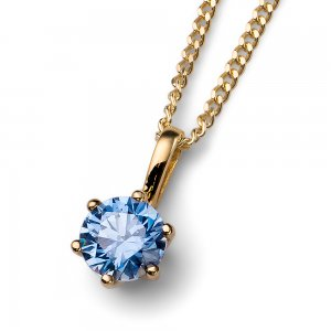 Prívesok s krištálmi Swarovski Oliver Weber Brilliance Medium gold blue